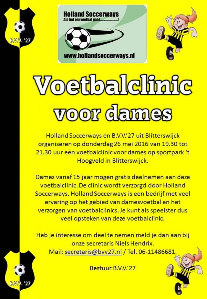 Voetbalclinic Holland Soccerways en BVV